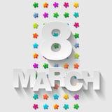 8 de março Foto de Stock Royalty Free