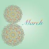 8 de março ilustração royalty free