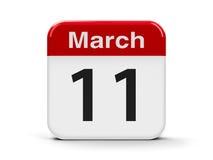 11 de março Fotos de Stock Royalty Free