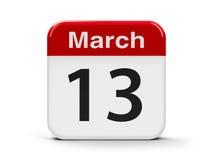 13 de março Ilustração Stock