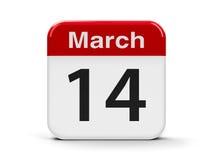 14 de março Fotos de Stock