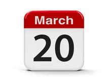 20 de março Foto de Stock Royalty Free