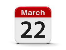 22 de março Imagens de Stock