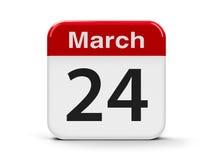 24 de março Fotos de Stock Royalty Free