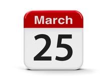 25 de março Foto de Stock Royalty Free