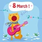 8 de março cartão ilustração stock
