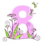 8 de março cartão Imagens de Stock Royalty Free