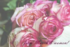 8 de março cartão do dia do ` s das mulheres Imagem de Stock Royalty Free