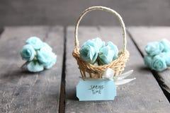 8 de março Cartão internacional do dia do ` s das mulheres com flores Imagens de Stock