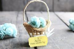 8 de março cartão O dia da mulher internacional Fotos de Stock Royalty Free