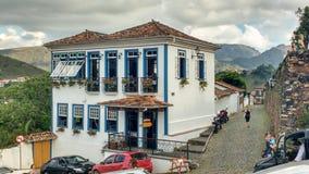 25 de março de 2016, cidade de Ouro Preto, Minas Gerais, Brasil, mansão colonial imagem de stock royalty free
