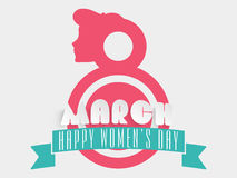8 de março, conceito da celebração do dia das mulheres felizes Imagem de Stock