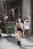 22 de março de 2015 Festival de Castellers em Barcelona (Espanha) Imagens de Stock Royalty Free