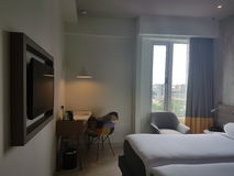 28 de março de 2017, Kuala Lumpur Projeto da sala de Bandar Sri Damansara dos estilos dos íbis do hotel Imagens de Stock