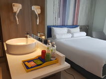 28 de março de 2017, Kuala Lumpur Projeto da sala de Bandar Sri Damansara dos estilos dos íbis do hotel Foto de Stock