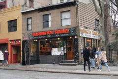 25 de março de 2017: Washington Square Diner famoso na vila ocidental, NYC, EUA fotografia de stock royalty free
