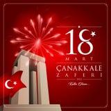 18 de março dia da vitória do canakkale ilustração royalty free