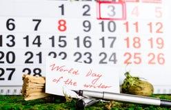 3 de março dia do mundo do escritor Imagem de Stock