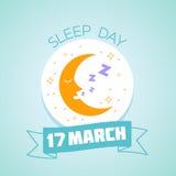 17 de março dia do sono Imagem de Stock