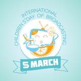5 de março dia internacional das crianças da transmissão Imagens de Stock