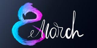 8 de março formulário fluido abstrato com quadro Fundo branco do dia das mulheres internacionais 3d figura líquida na moda oito p ilustração royalty free