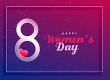 8 de março, fundo internacional da celebração do dia do ` s das mulheres ilustração do vetor