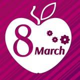 8 de março maçã Imagens de Stock