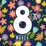8 de março o dia das mulheres ilustração stock