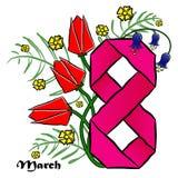 8 de março, o dia das mulheres internacionais Foto de Stock Royalty Free