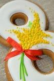 8 de março pão-de-espécie doce Imagens de Stock