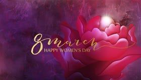 8 de março projeto do fundo com flor e pérola Imagem de Stock Royalty Free