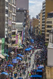 25 de março Rua - Sao Paulo - Brasil Fotografia de Stock Royalty Free