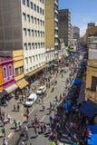25 DE Março Street - Sao Paulo - Brazilië Stock Afbeeldingen