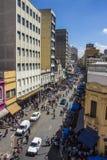 25 DE Março Street - Sao Paulo - Brazilië Royalty-vrije Stock Afbeelding