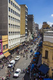 25 de Março Street - Sao Paulo - el Brasil Imagen de archivo libre de regalías