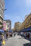 25 De Março Ulica, Sao Paulo, Brazylia - Obrazy Stock