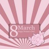 8 de março Vector o cartão para o dia internacional do ` s das mulheres ilustração royalty free