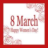 8 de março Vector o cartão para o dia internacional do ` s das mulheres ilustração do vetor