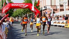 De Marathon 2011 van Gutenberg in Mainz, Duitsland Royalty-vrije Stock Foto's
