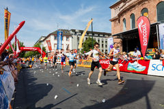 De Marathon 2011 van Gutenberg in Mainz, Duitsland Stock Foto's