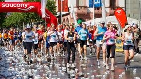 De Marathon 2011 van Gutenberg in Mainz, Duitsland Stock Foto