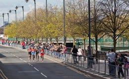 De Marathon 2012 van Londen - Lel, Mutai, Tsegay, Worku Stock Foto