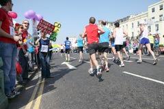 De marathon achttiende van Brighton van April Stock Fotografie