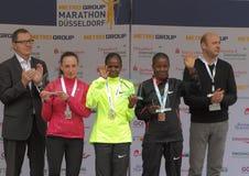 De Marathon van Duesseldorf Stock Foto's
