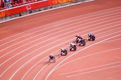 De marathon van mensen in de Spelen van Peking Paralympic Stock Afbeeldingen