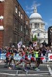 De Marathon van mensen - Olympics 2012 Royalty-vrije Stock Afbeelding