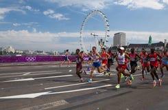 De Marathon van mensen - Olympics 2012 Royalty-vrije Stock Afbeeldingen