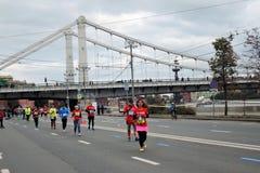 De marathon van Moskou Stock Afbeeldingen