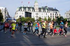De Marathon van Oslo, Noorwegen Royalty-vrije Stock Foto's