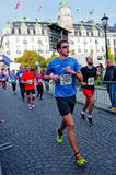 De Marathon van Oslo, Noorwegen Royalty-vrije Stock Fotografie
